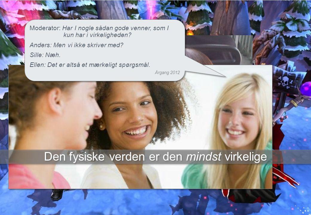 www.aargang2012.dk – tlf: 23 38 65 51 – mail: aargang2012@gmail.com 21 Moderator: Har I nogle sådan gode venner, som I kun har i virkeligheden.