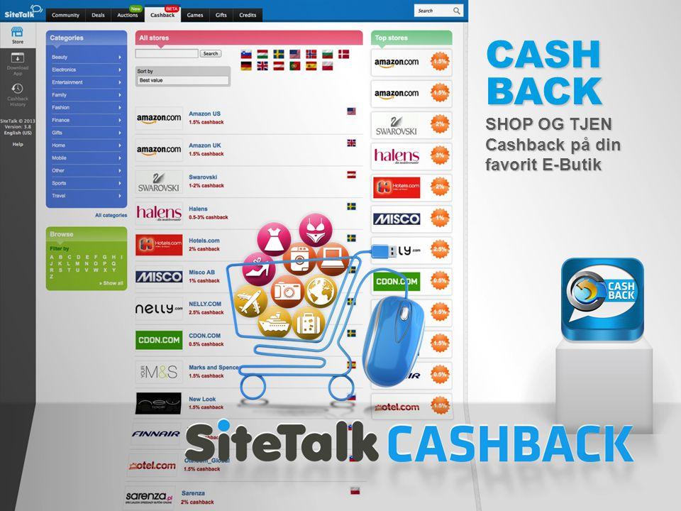 CASHBACK SHOP OG TJEN Cashback på din favorit E-Butik