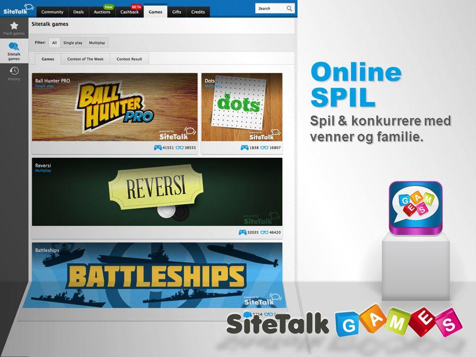 Online SPIL Spil & konkurrere med venner og familie.