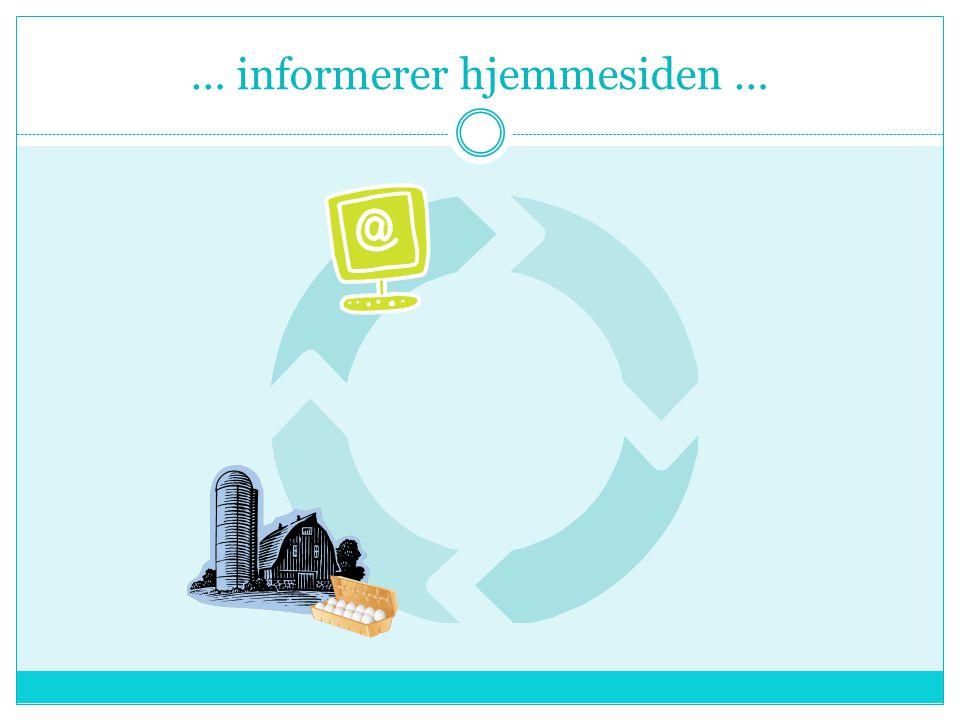 … informerer hjemmesiden …