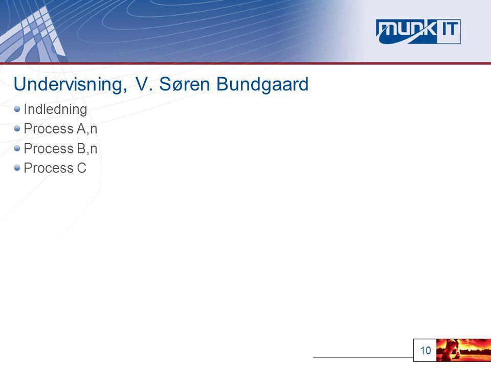 10 Undervisning, V. Søren Bundgaard Indledning Process A,n Process B,n Process C