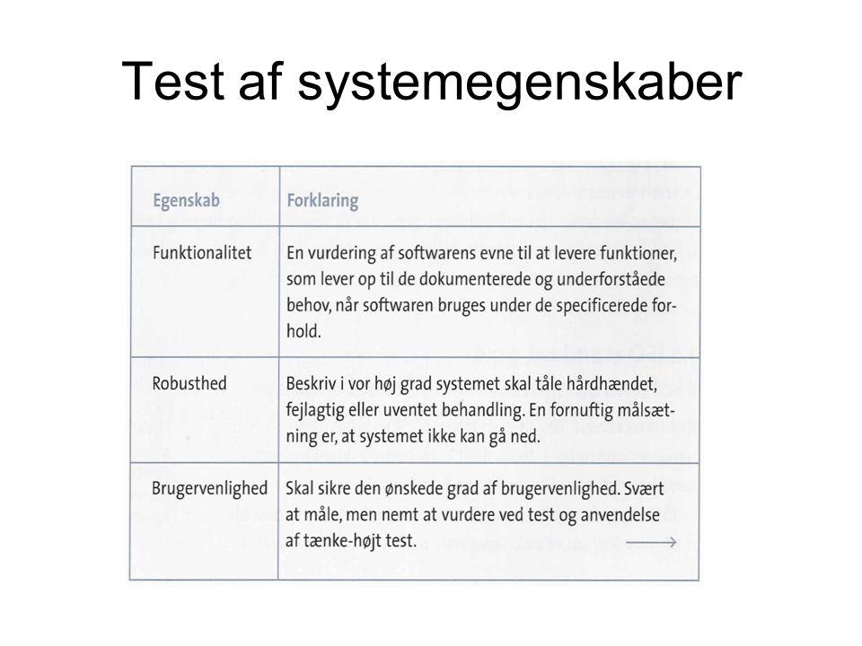Test af systemegenskaber