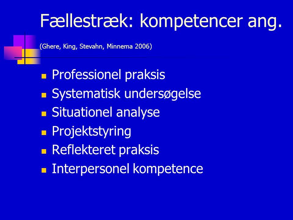 Fællestræk: kompetencer ang.