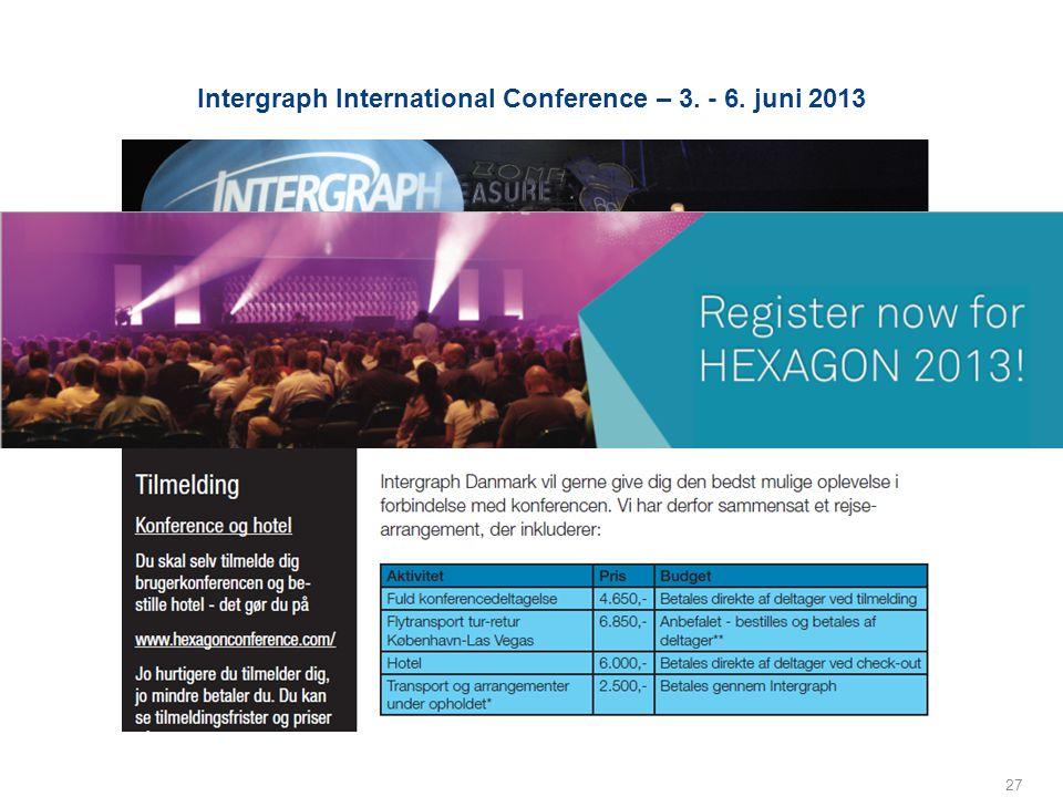 Intergraph International Conference – 3. - 6. juni 2013 27