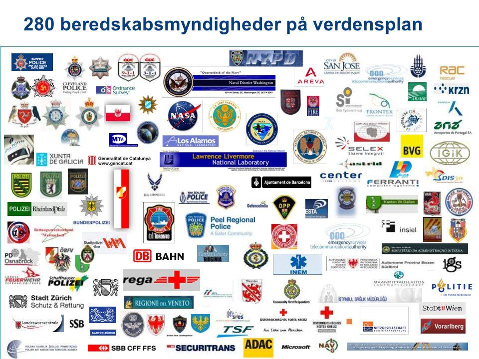 280 beredskabsmyndigheder på verdensplan