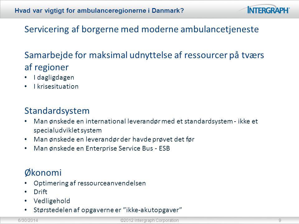 Hvad var vigtigt for ambulanceregionerne i Danmark.