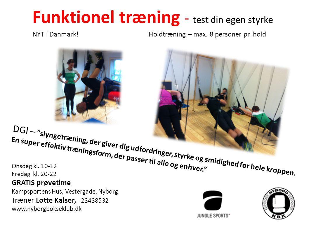 Funktionel træning - test din egen styrke NYT i Danmark.