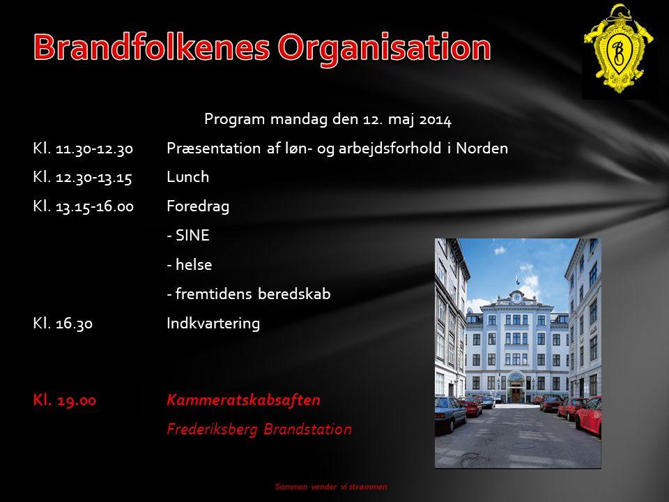 Program mandag den 12. maj 2014 Kl. 11.30-12.30Præsentation af løn- og arbejdsforhold i Norden Kl.
