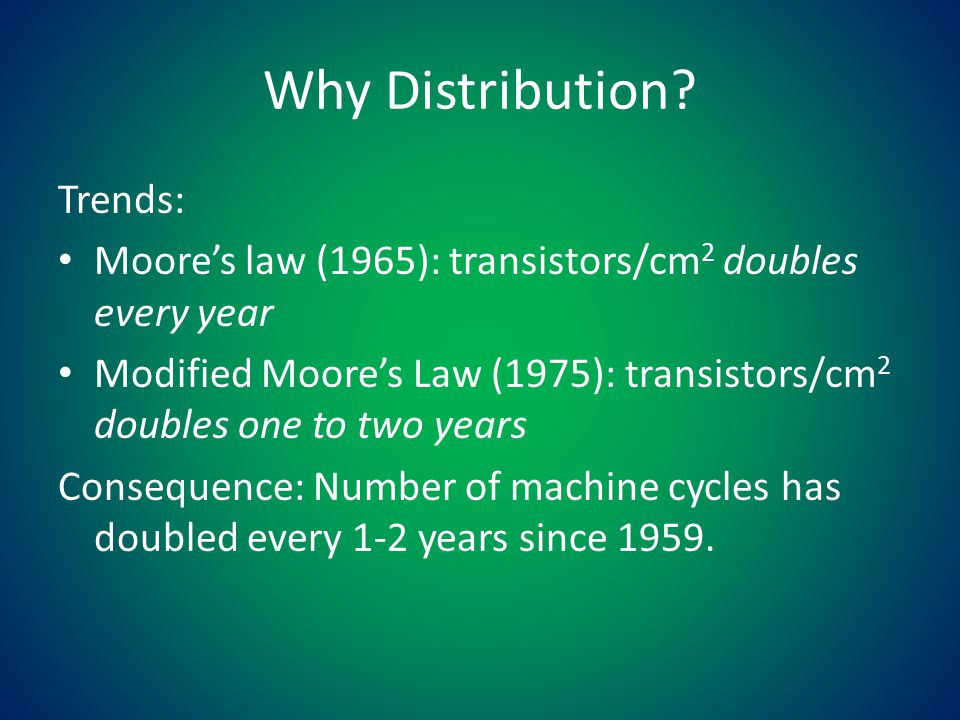 Why Distribution.