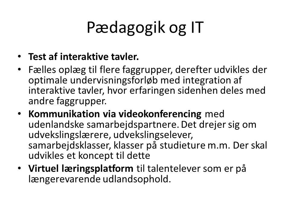 Pædagogik og IT • Test af interaktive tavler.