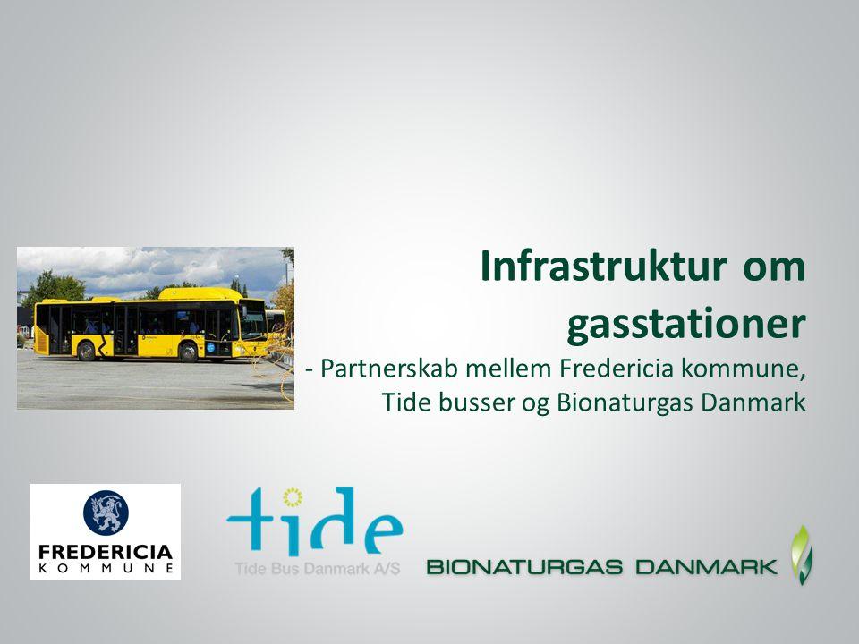 Infrastruktur om gasstationer - Partnerskab mellem Fredericia kommune, Tide busser og Bionaturgas Danmark