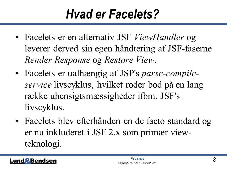 3 Facelets Copyright © Lund & Bendsen A/S Hvad er Facelets.