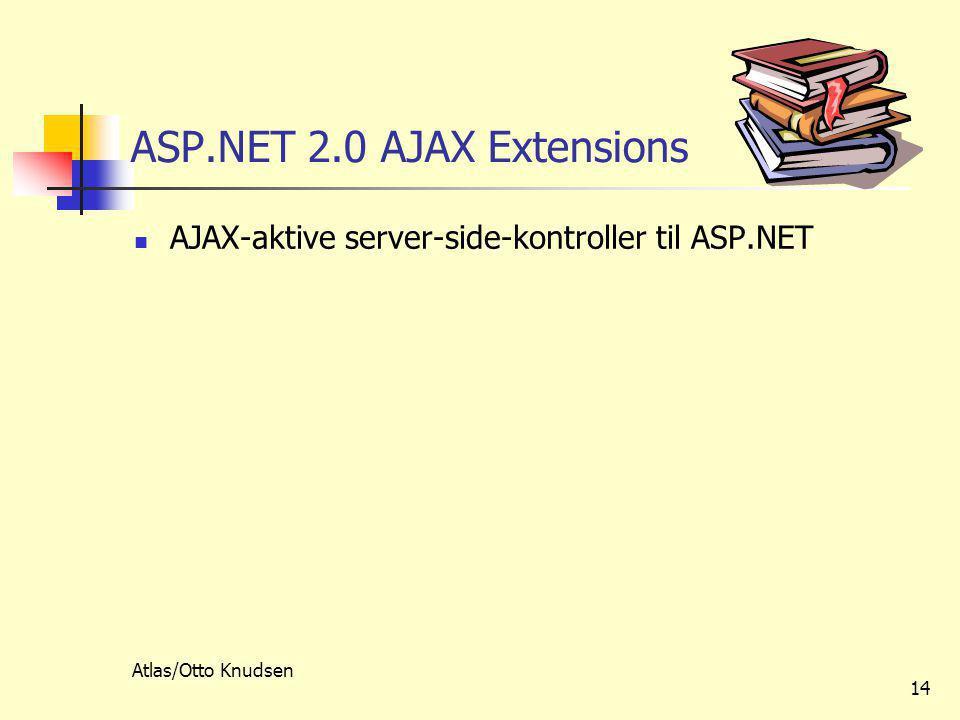 Atlas/Otto Knudsen 14 ASP.NET 2.0 AJAX Extensions  AJAX-aktive server-side-kontroller til ASP.NET
