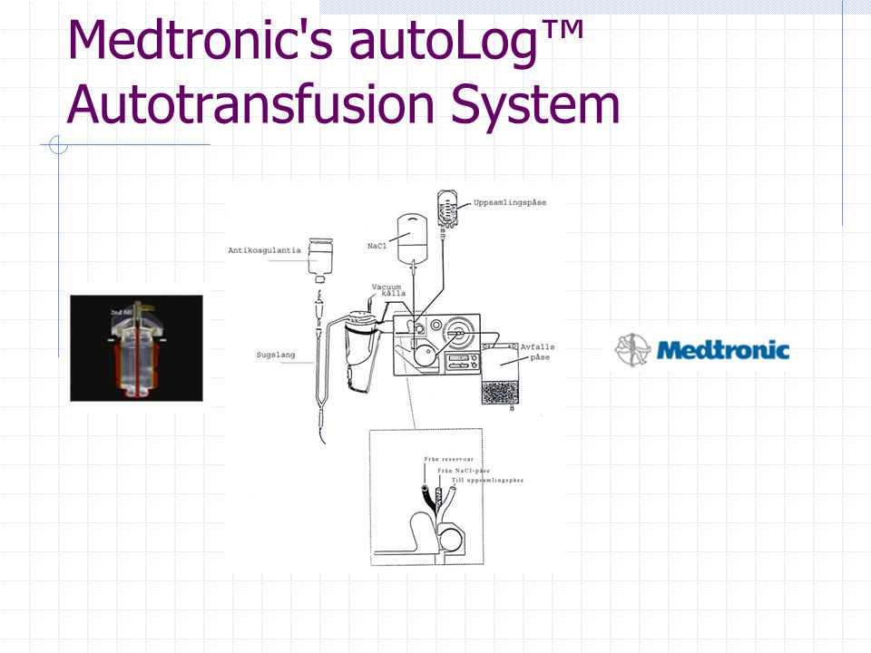 Medtronic s autoLog™ Autotransfusion System
