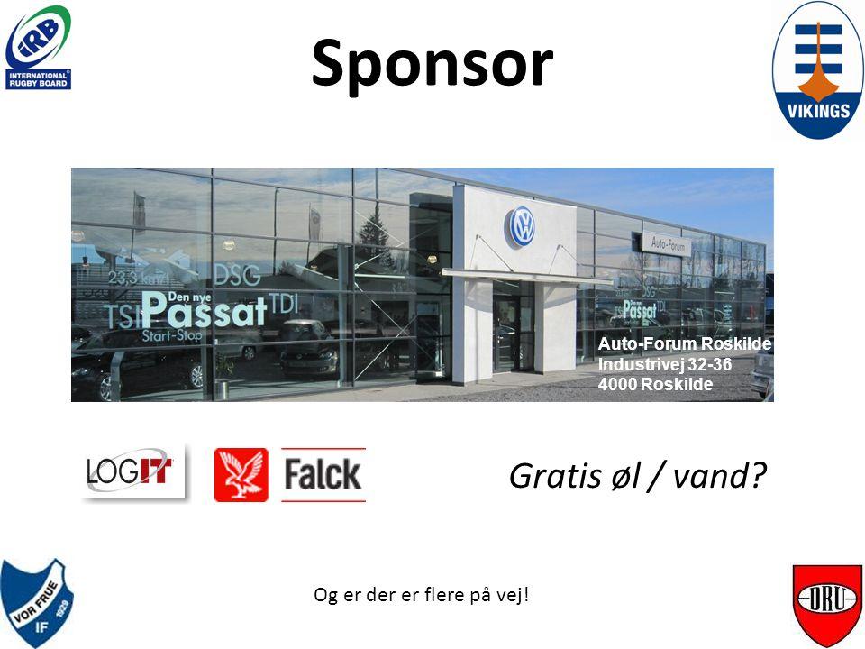 Sponsor Auto-Forum Roskilde Industrivej 32-36 4000 Roskilde Og er der er flere på vej.