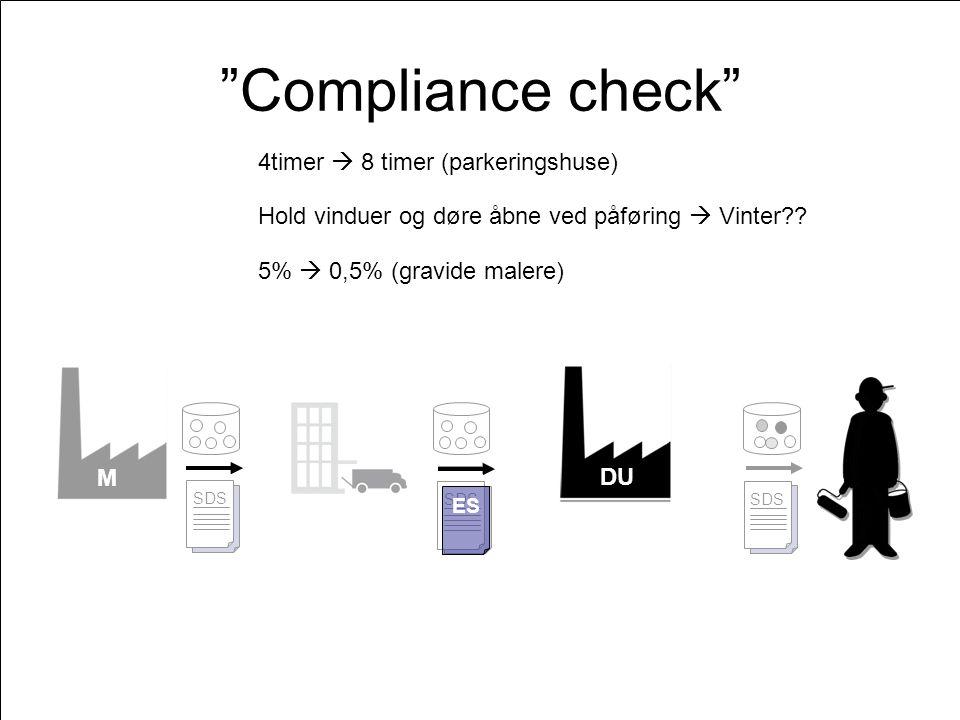 M DU ES SDS ES SDS ES SDS DU Compliance check ES Hold vinduer og døre åbne ved påføring  Vinter .