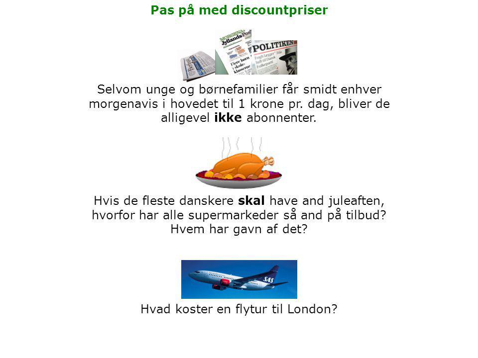Hvis de fleste danskere skal have and juleaften, hvorfor har alle supermarkeder så and på tilbud.