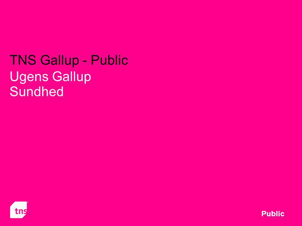 TNS Gallup - Public Ugens Gallup Sundhed Public
