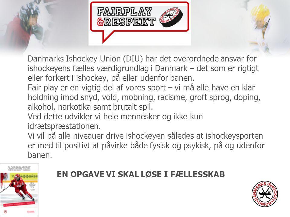 Danmarks Ishockey Union (DIU) har det overordnede ansvar for ishockeyens fælles værdigrundlag i Danmark – det som er rigtigt eller forkert i ishockey, på eller udenfor banen.