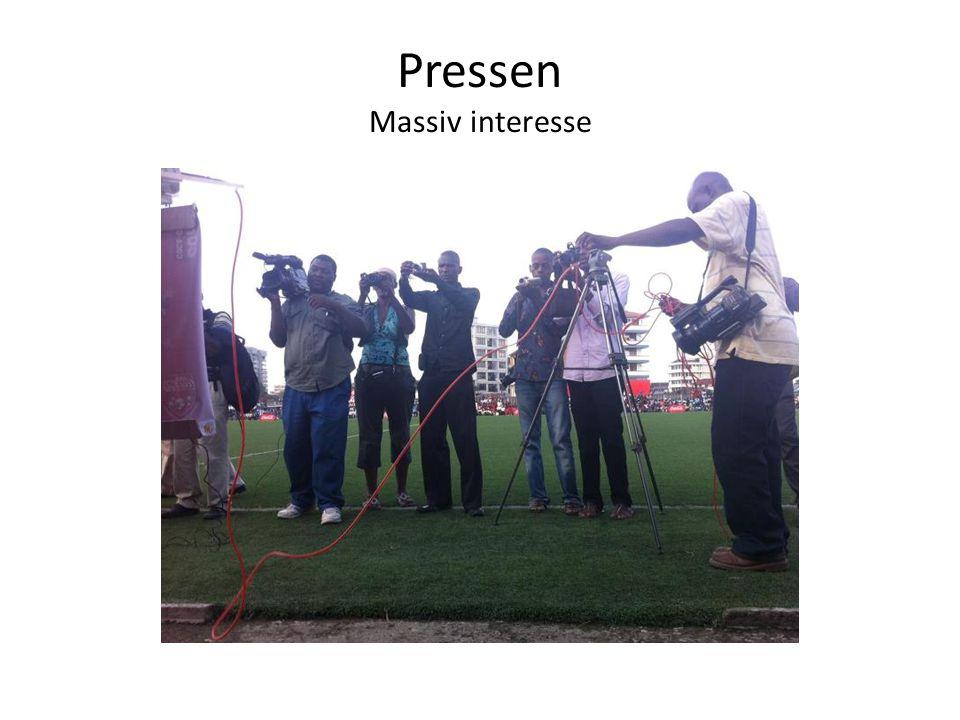Pressen Massiv interesse