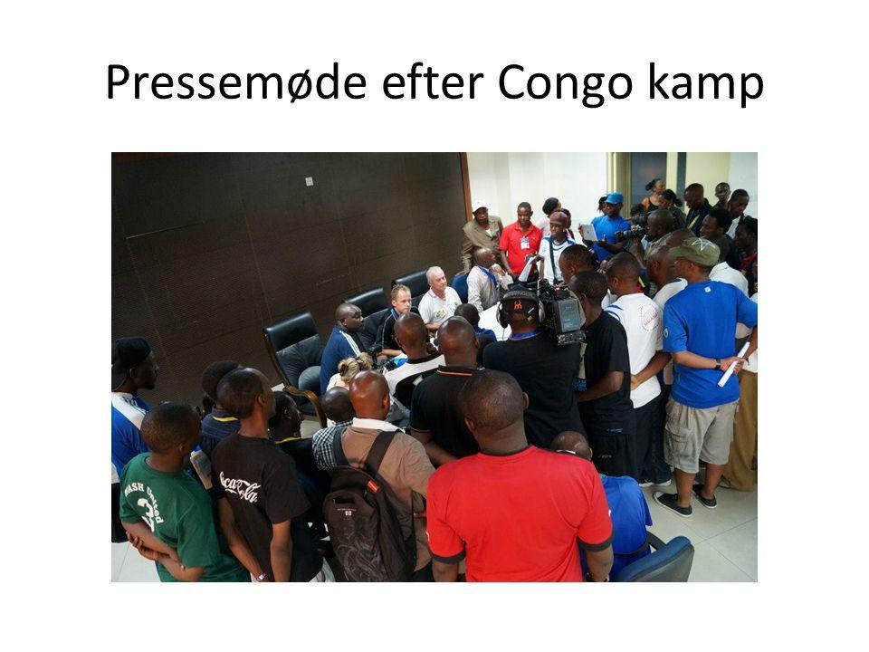 Pressemøde efter Congo kamp