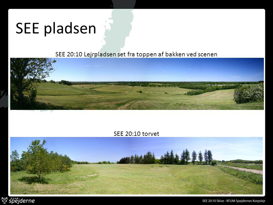 SEE pladsen SEE 20:10 Lejrpladsen set fra toppen af bakken ved scenen SEE 20:10 torvet