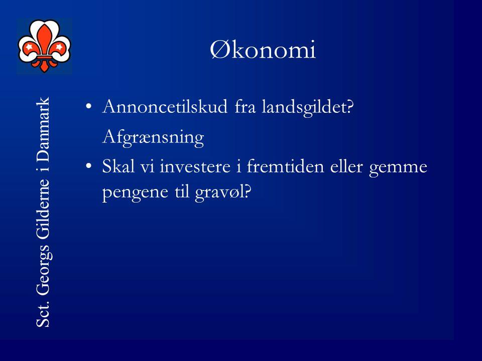 Sct. Georgs Gilderne i Danmark Synliggørelse •O•Opslag i supermarkeder mv.