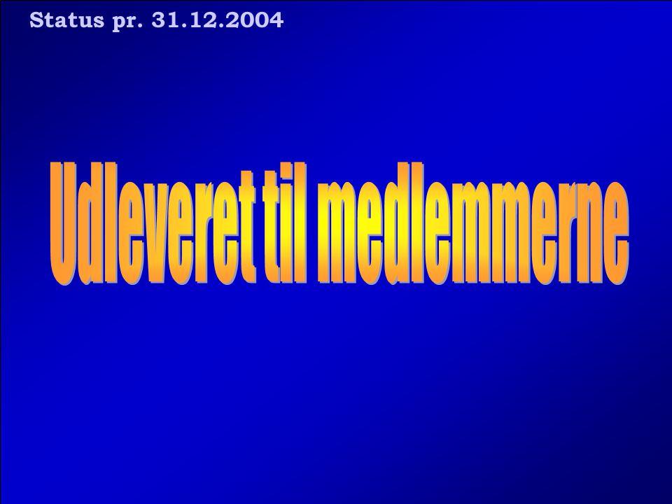 Status pr. 31.12.2004
