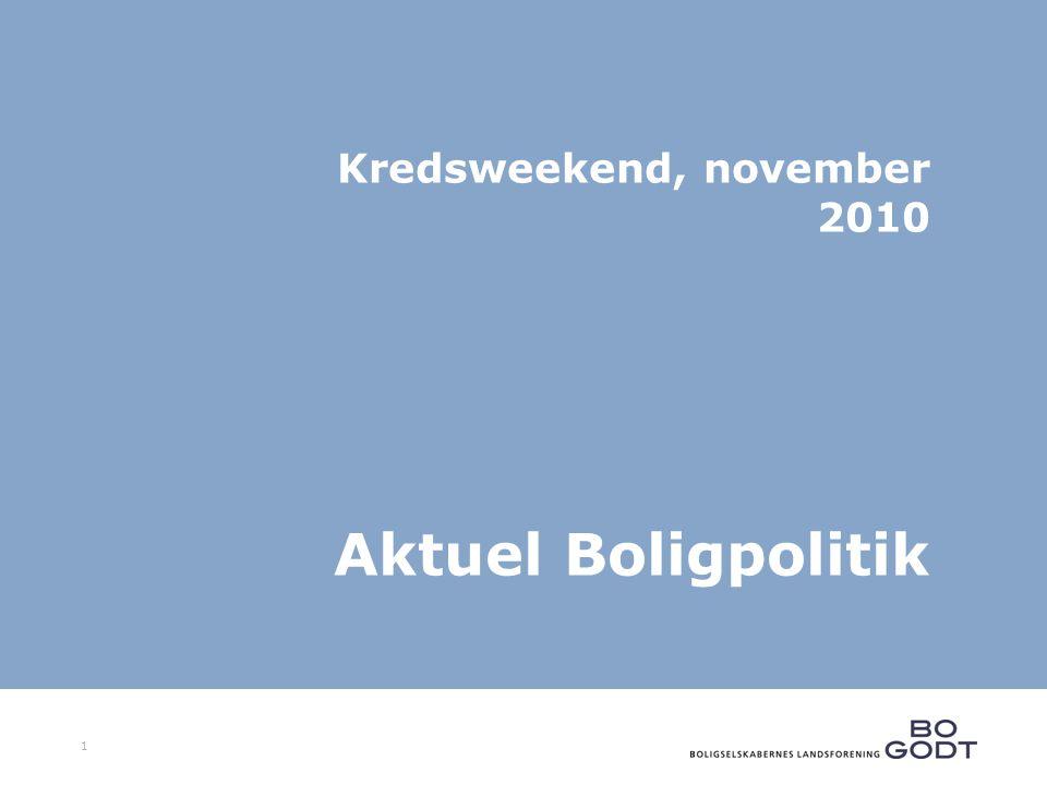 1 Kredsweekend, november 2010 Aktuel Boligpolitik