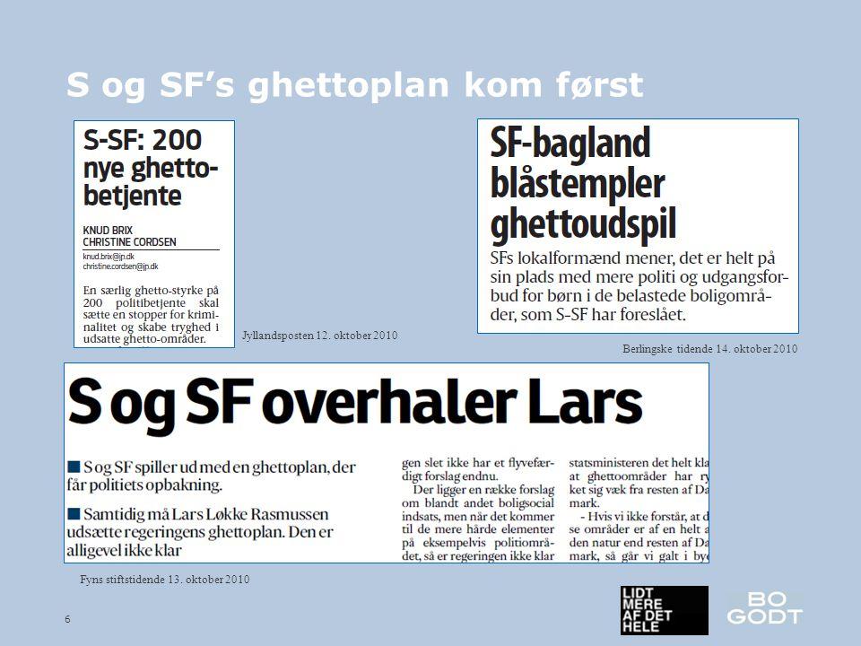 6 S og SF's ghettoplan kom først Fyns stiftstidende 13.
