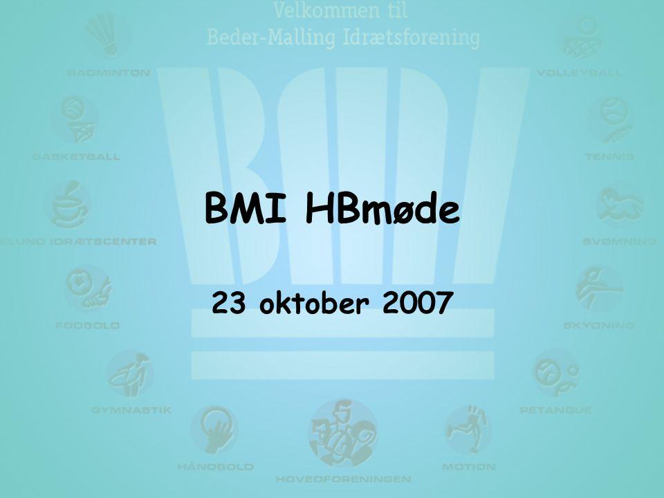 BMI HBmøde 23 oktober 2007