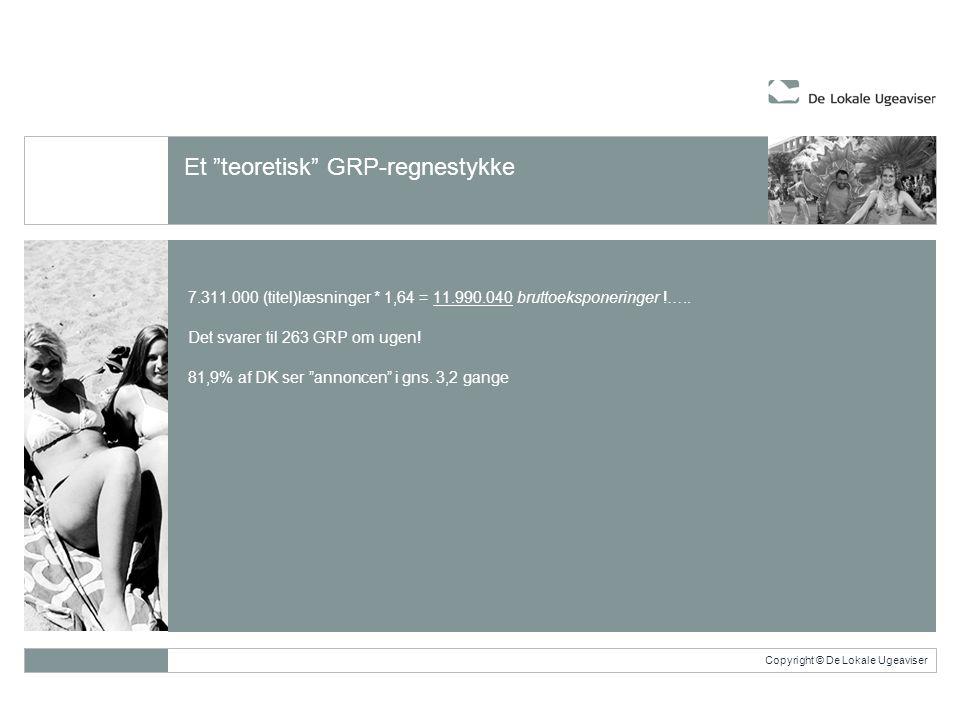 Copyright © De Lokale Ugeaviser 7.311.000 (titel)læsninger * 1,64 = 11.990.040 bruttoeksponeringer !…..