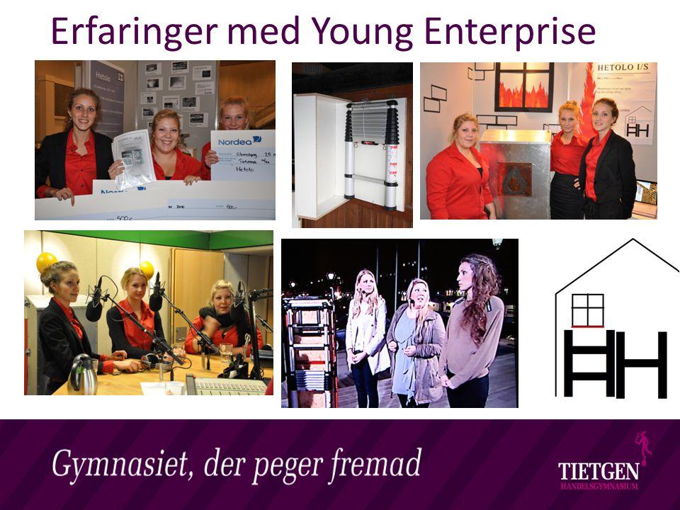 Erfaringer med Young Enterprise