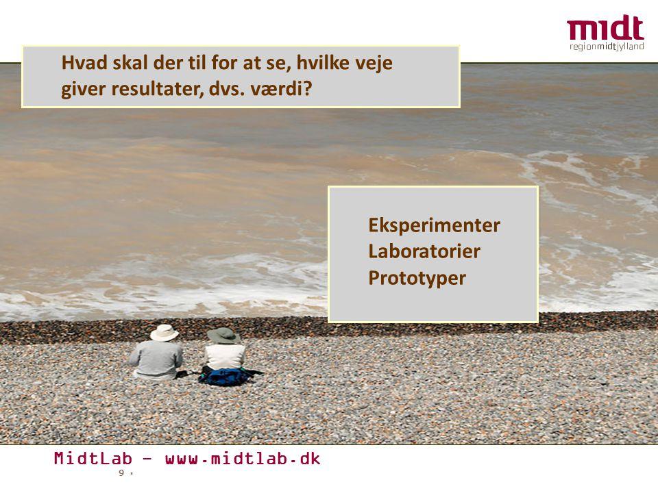 MidtLab - www.midtlab.dk 9 ▪ Hvad skal der til for at se, hvilke veje giver resultater, dvs.