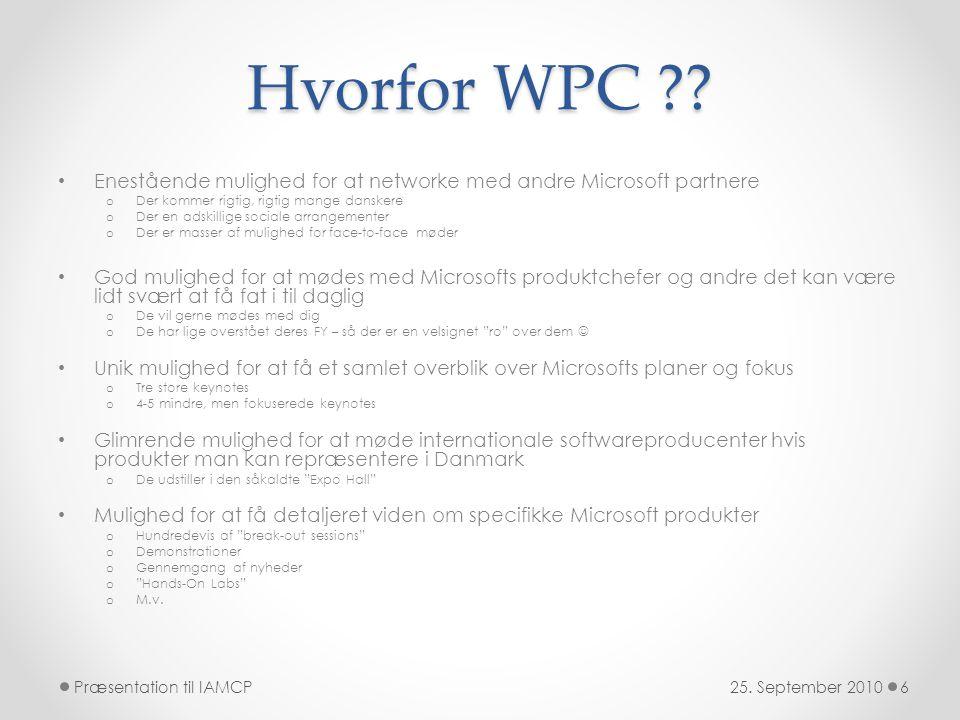 Hvorfor WPC .