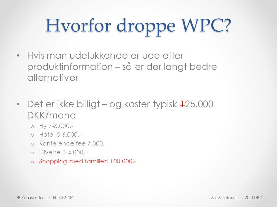 Hvorfor droppe WPC.