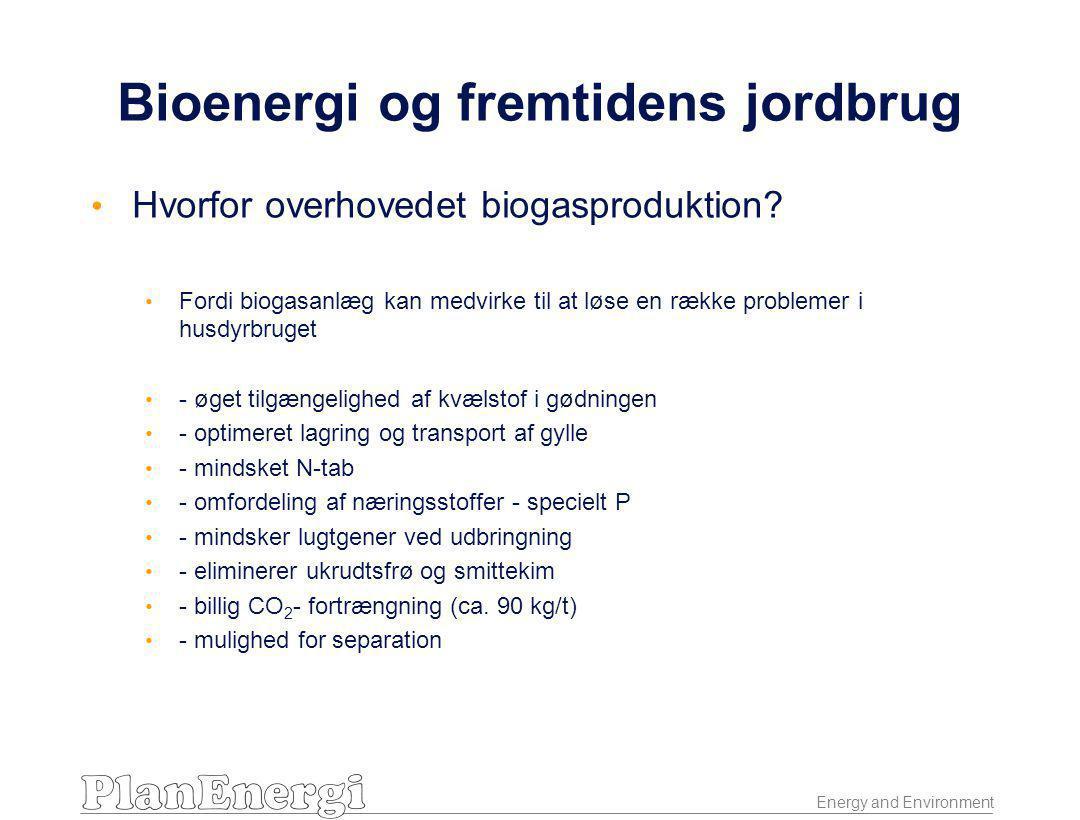 Energy and Environment Bioenergi og fremtidens jordbrug • Hvorfor overhovedet biogasproduktion.