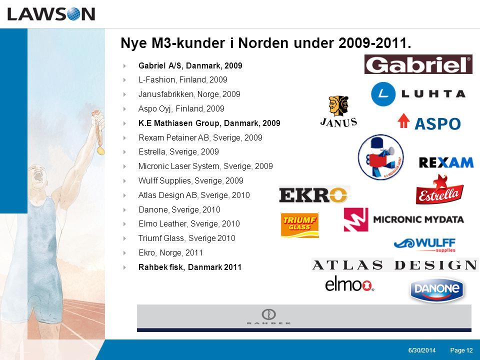 Page 126/30/2014 Nye M3-kunder i Norden under 2009-2011.
