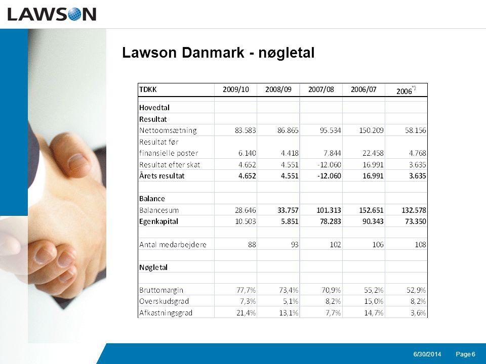Page 66/30/2014 Lawson Danmark - nøgletal