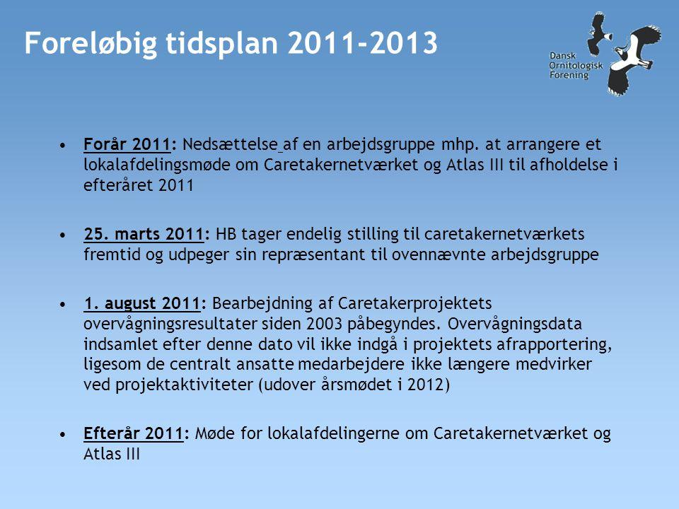 Foreløbig tidsplan 2011-2013 •Forår 2011: Nedsættelse af en arbejdsgruppe mhp.