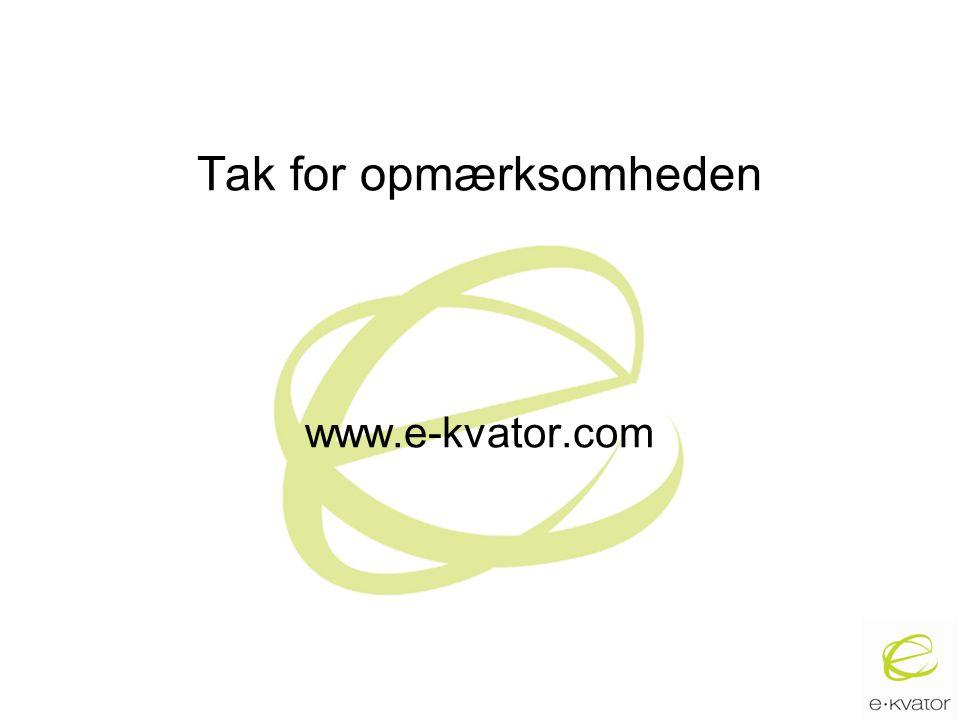 Tak for opmærksomheden www.e-kvator.com