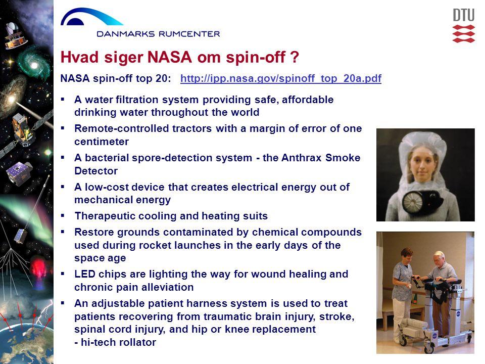 Hvad siger NASA om spin-off .