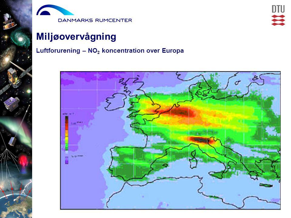 Luftforurening – NO 2 koncentration over Europa Miljøovervågning