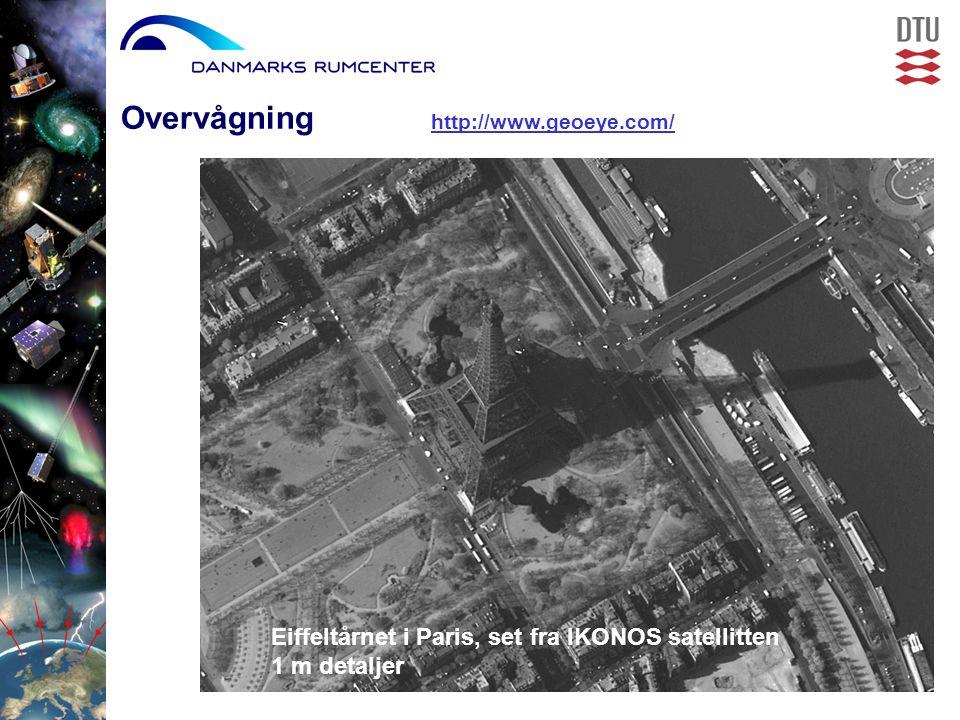 Overvågning http://www.geoeye.com/ Eiffeltårnet i Paris, set fra IKONOS satellitten 1 m detaljer