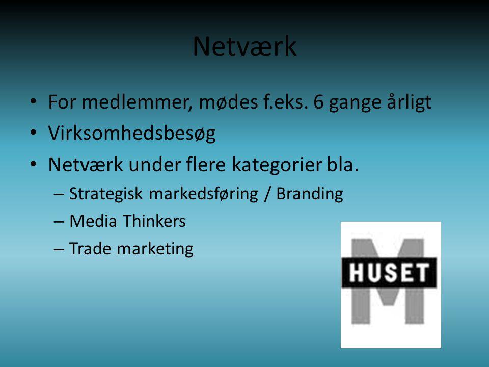 Netværk • For medlemmer, mødes f.eks.