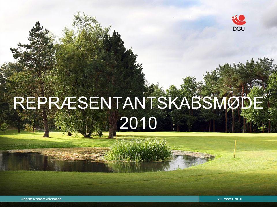 20. marts 2010Repræsentantskabsmøde REPRÆSENTANTSKABSMØDE 2010