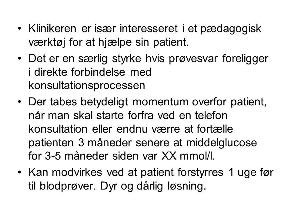 •Klinikeren er især interesseret i et pædagogisk værktøj for at hjælpe sin patient.