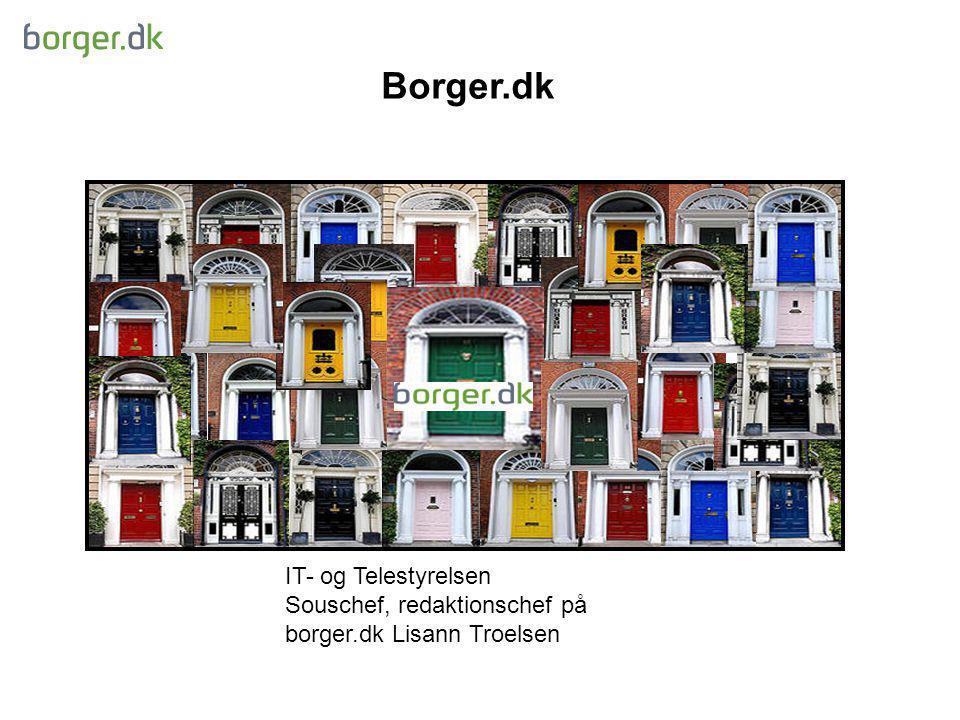 Borger.dk IT- og Telestyrelsen Souschef, redaktionschef på borger.dk Lisann Troelsen