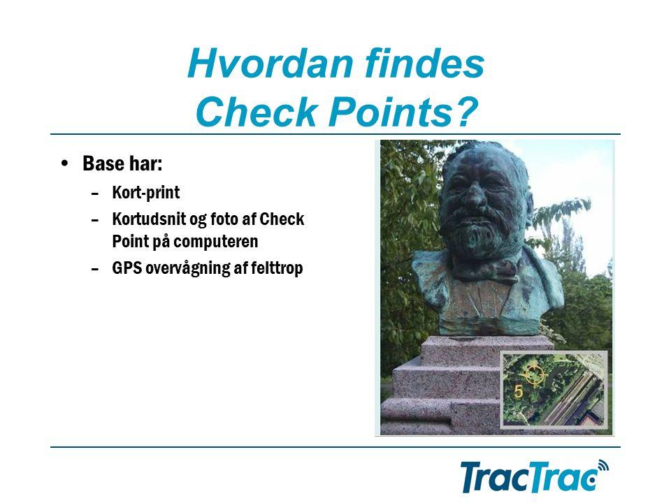 Hvordan findes Check Points.