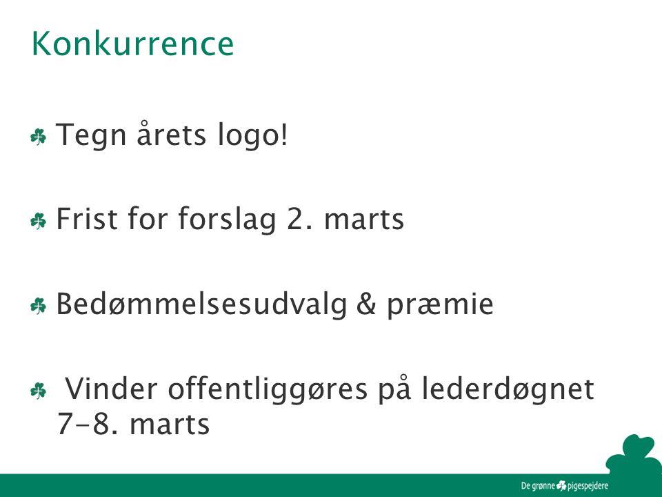 Konkurrence Tegn årets logo. Frist for forslag 2.